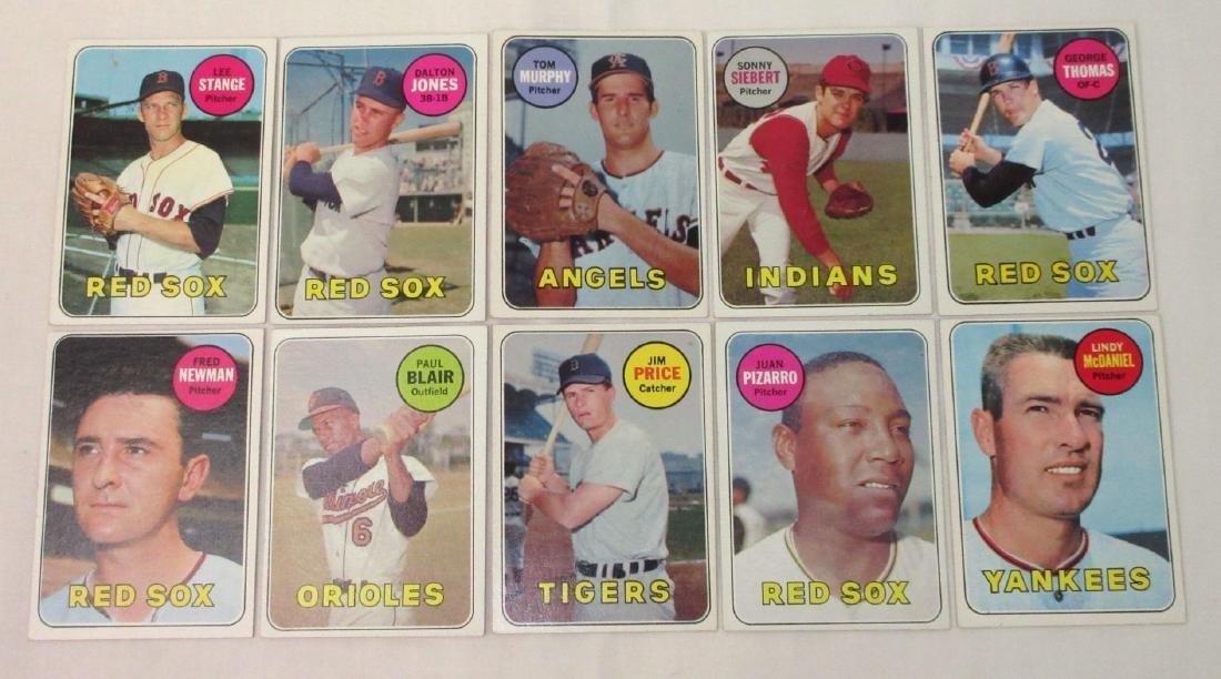 (10) 1969 Topps Baseball Cards