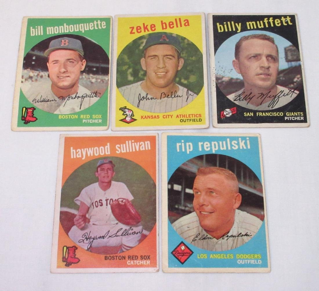 (5) 1959 Tops Baseball Cards