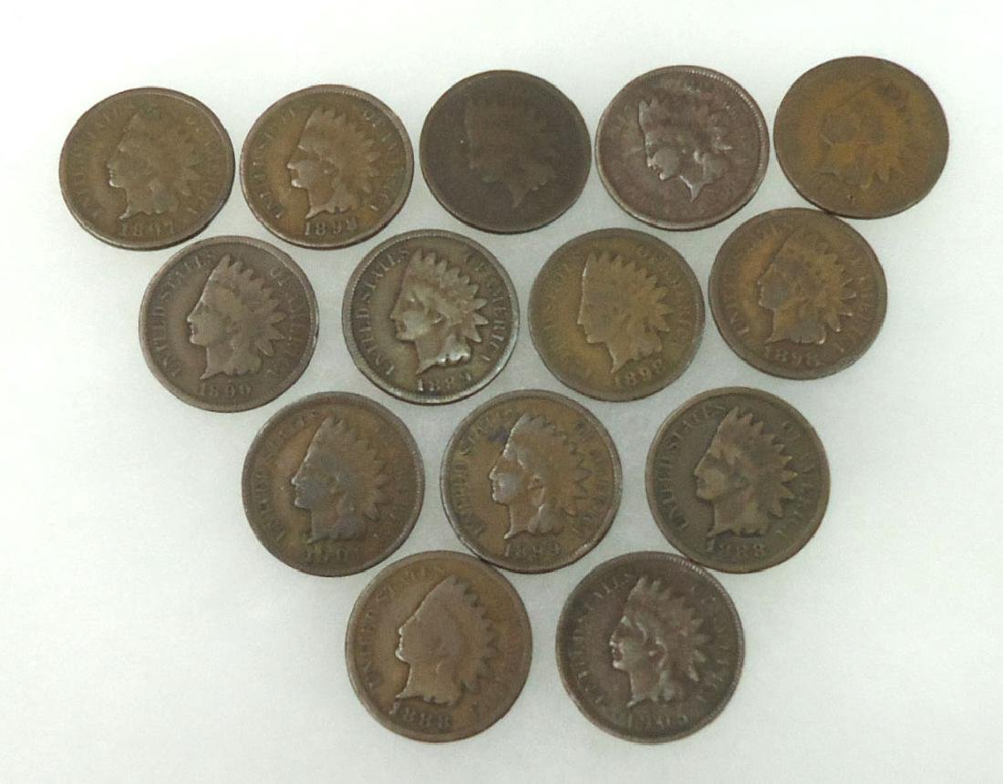 14 Indian Cents