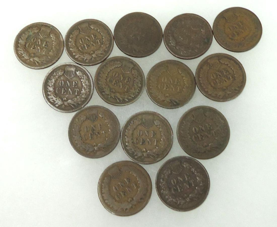 14 Indian Cents - 2