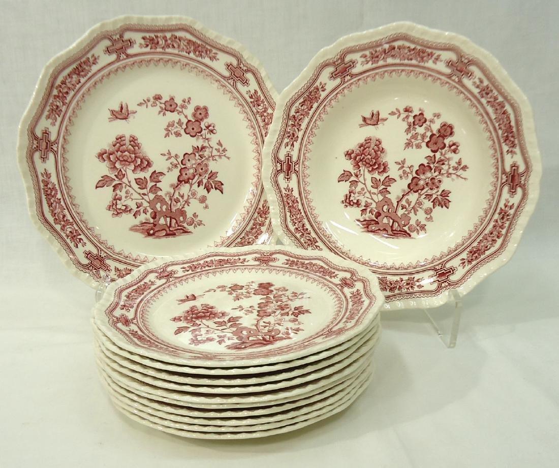 """12 Mason's """"Manchu"""" Dishes"""