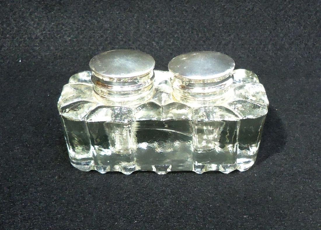 Crystal Double Inkwell