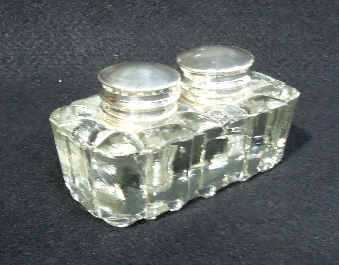 Crystal Double Inkwell - 2