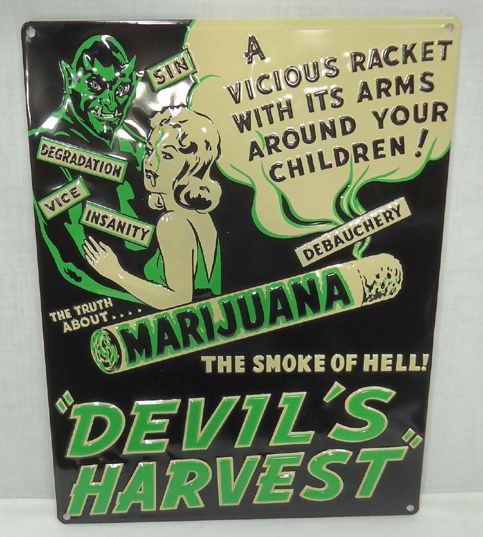 Modern Marijuana Sign