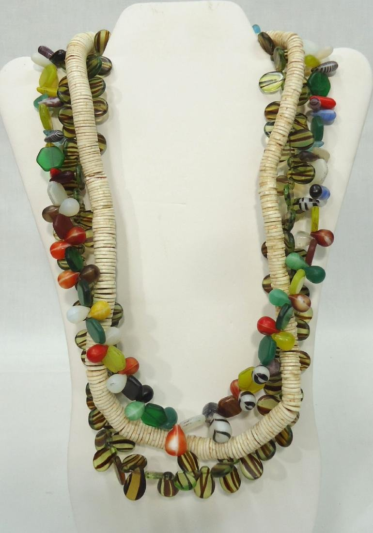3 African Bead Necklaces