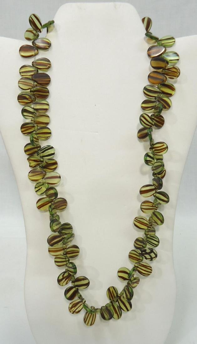 3 African Bead Necklaces - 2