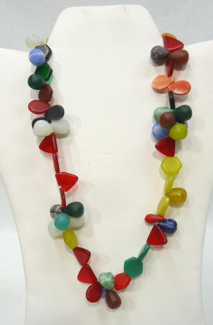 4 African Bead Necklaces - 2