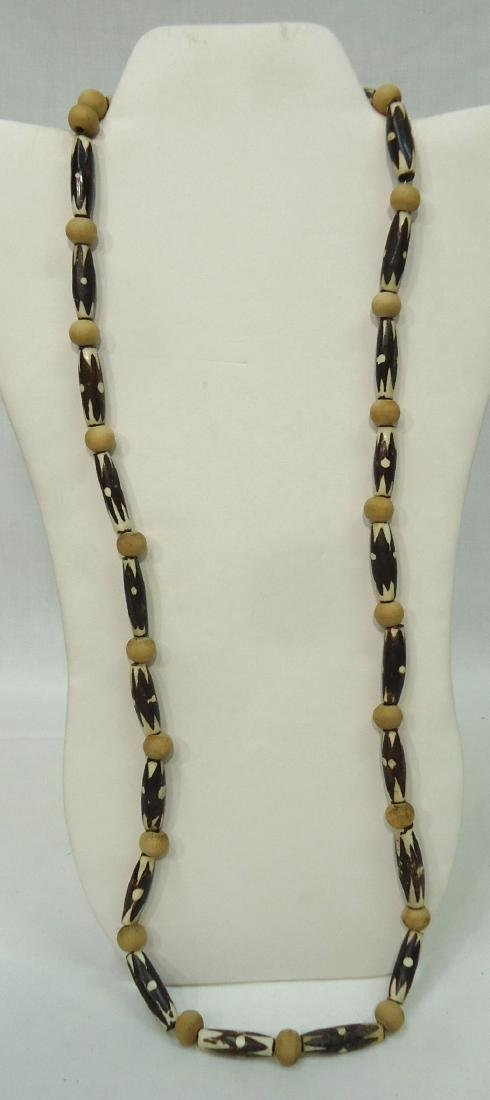 4 African Bead Necklaces - 4