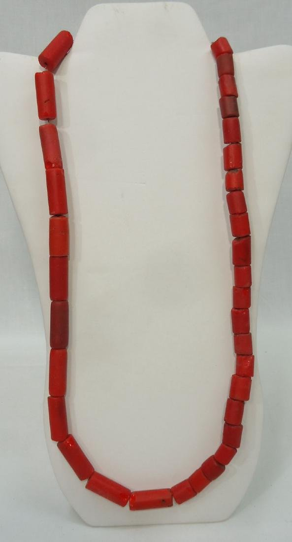 4 African Bead Necklaces - 5