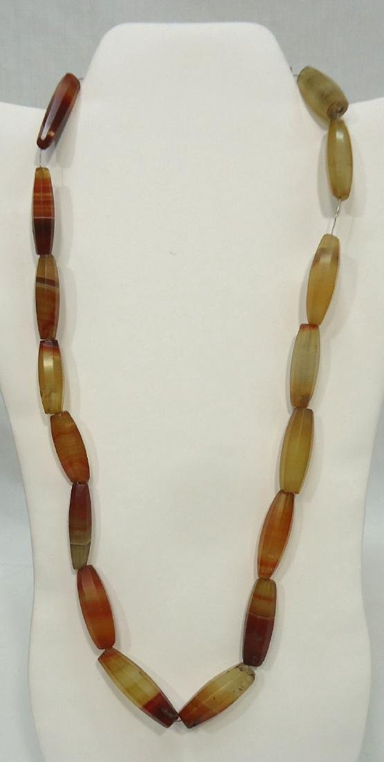 4 African Bead Necklaces - 3