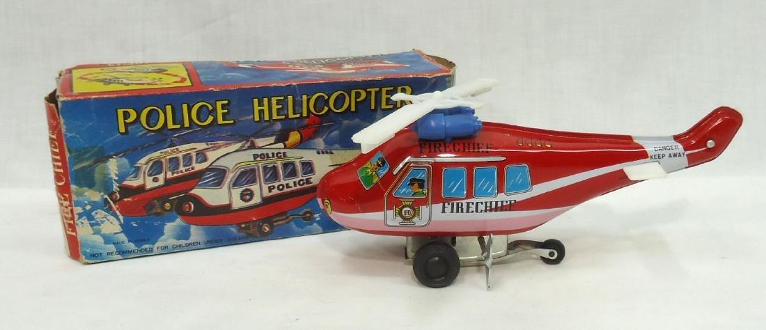 Tin Litho Police Helicopter Orig. Box