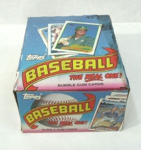 Box Topps Baseball Cards