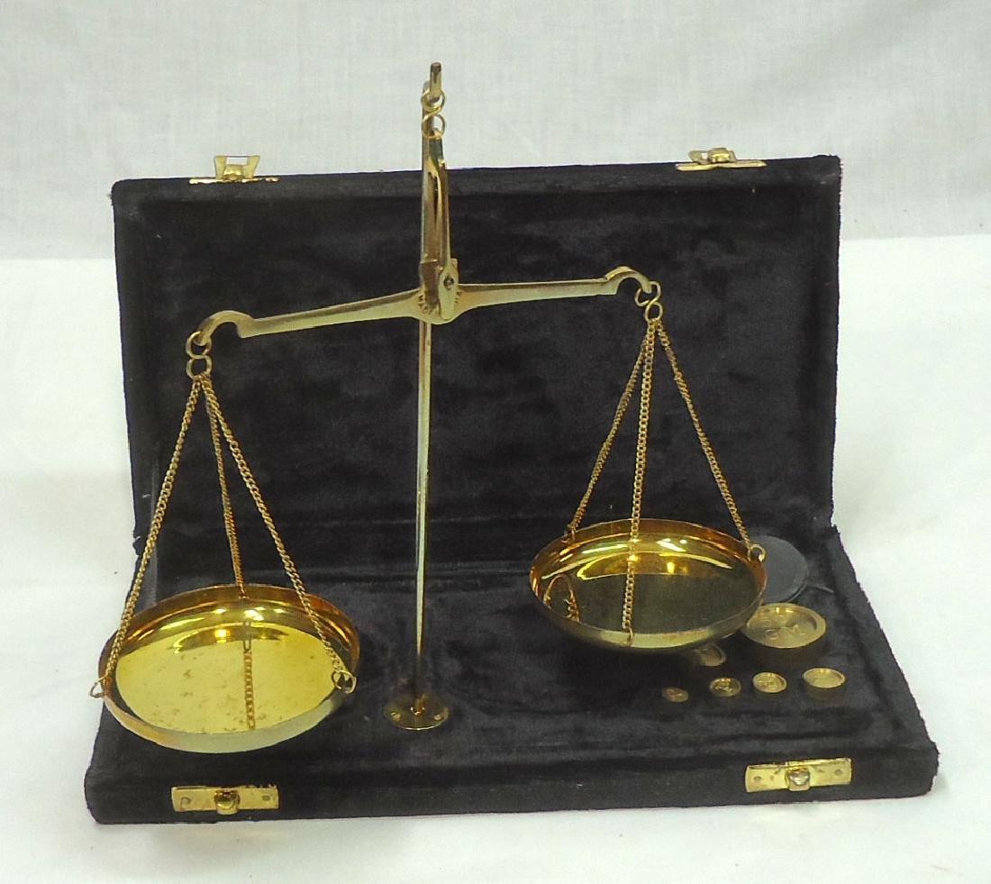 Modern Set Brass Gold Scales