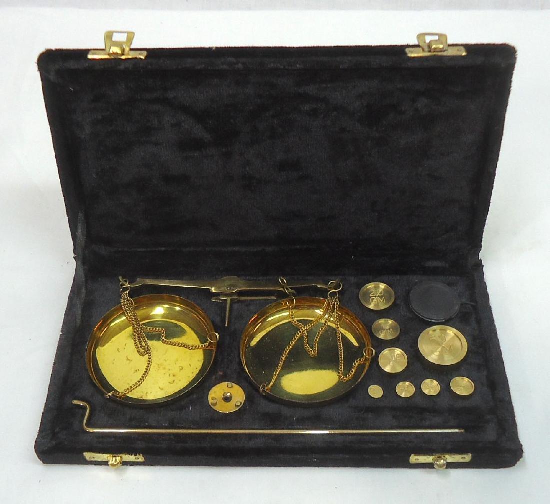 Modern Set Brass Gold Scales - 2