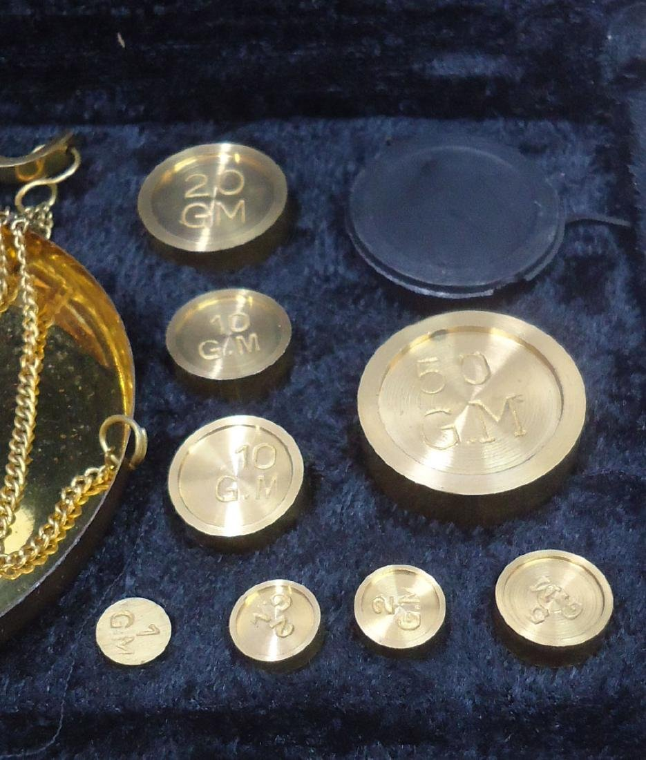 Modern Set Brass Gold Scales - 3