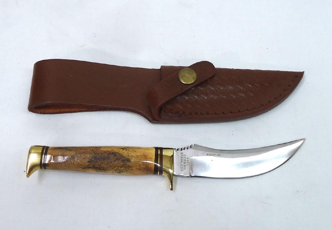 """7"""" Bone Handle Hunting Knife"""
