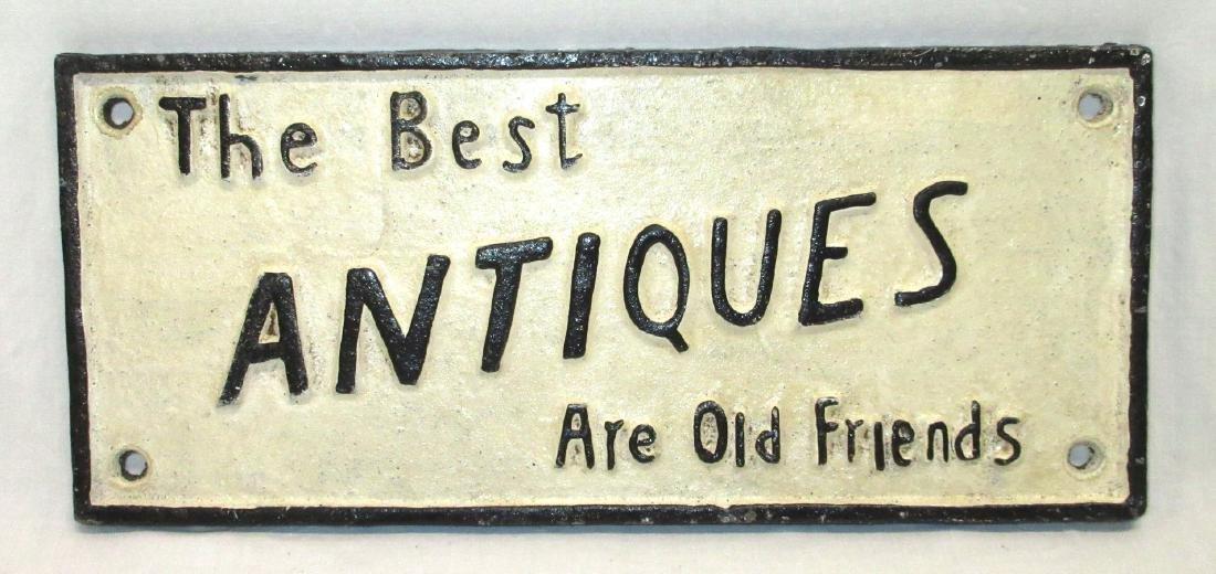 Modern C.I. Antiques Sign