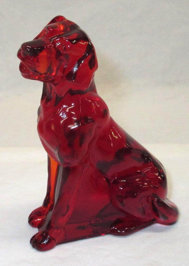 Ruby Glass Dog