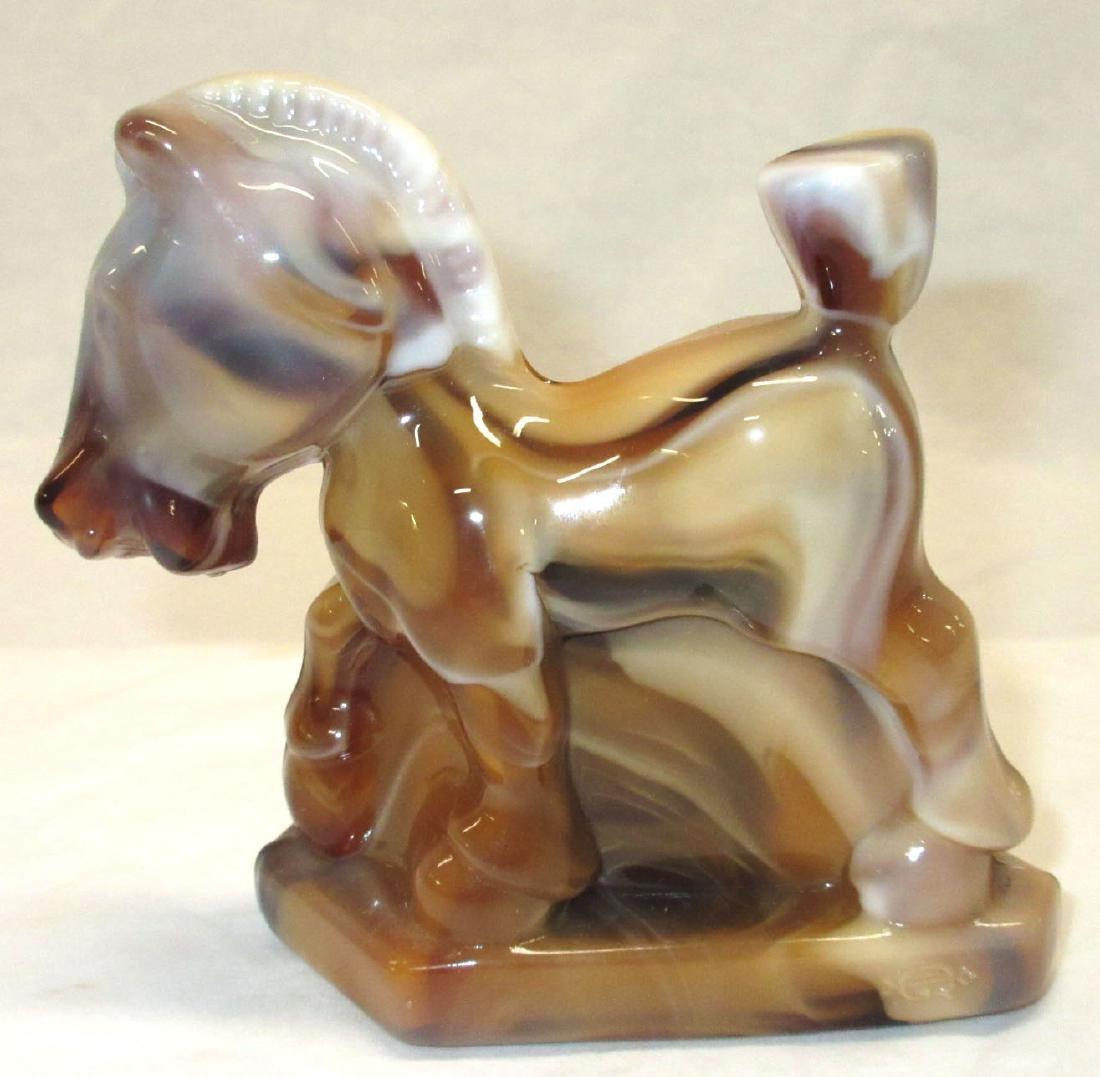 Chocolate Slag Glass Horse