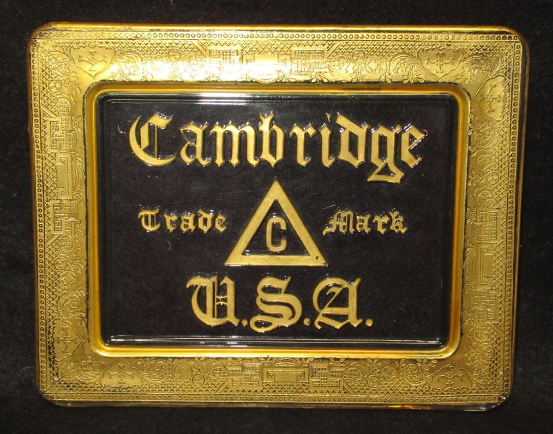 Cambridge Glass Dealer Sign