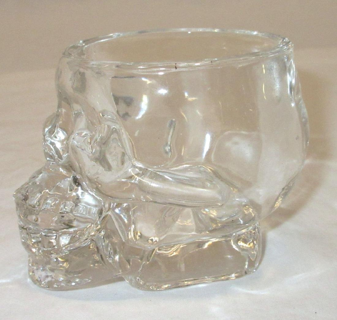 4 Glass Skull Shot Glasses - 2
