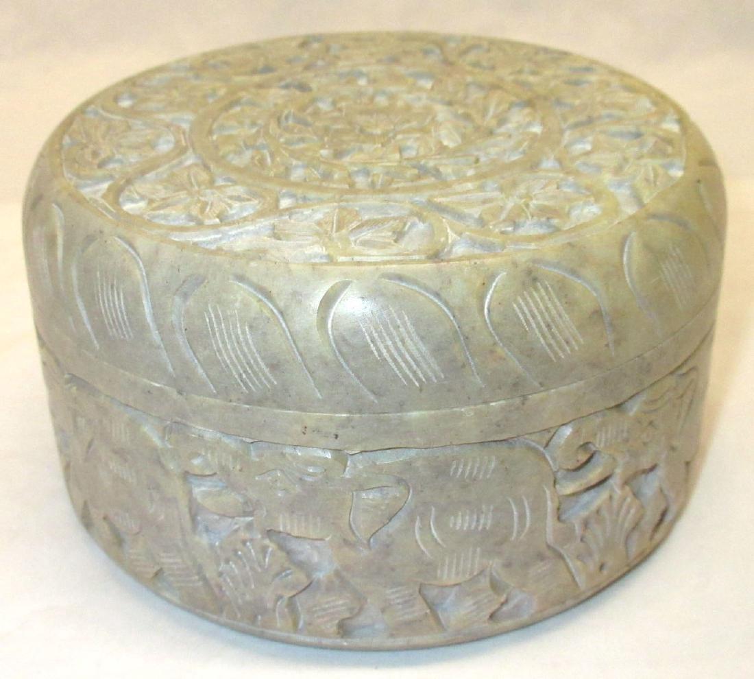 Oriental Carved Hardstone Box