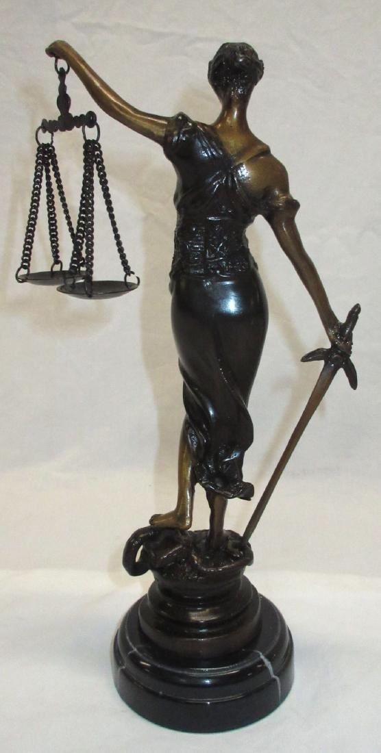 Bronze Lady Justice Statue - 2