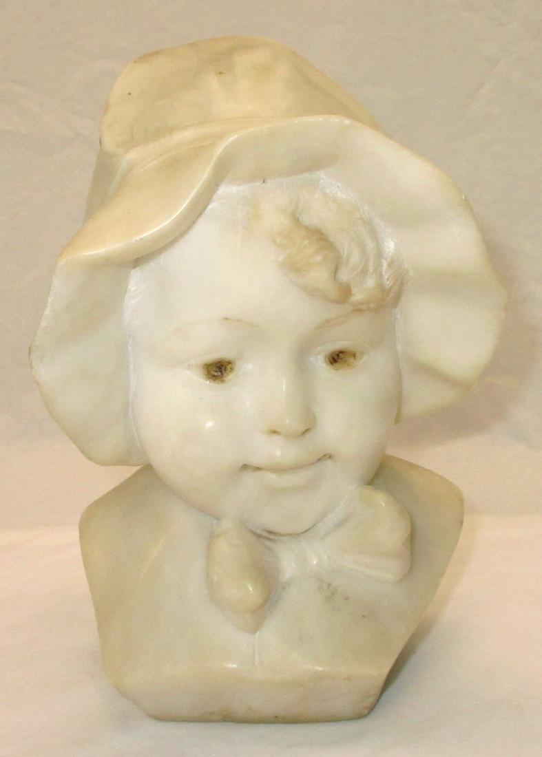 Antique Vict. Marble Bust