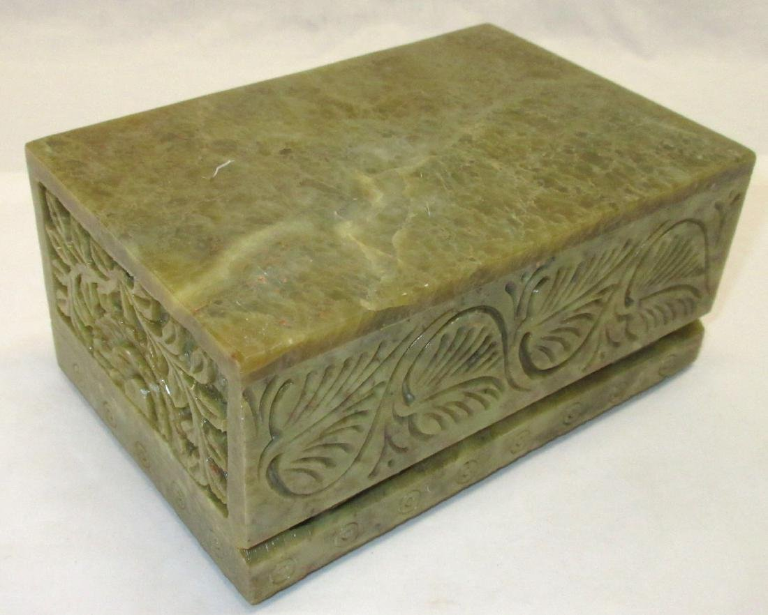 Oriental Hardstone Box - 3