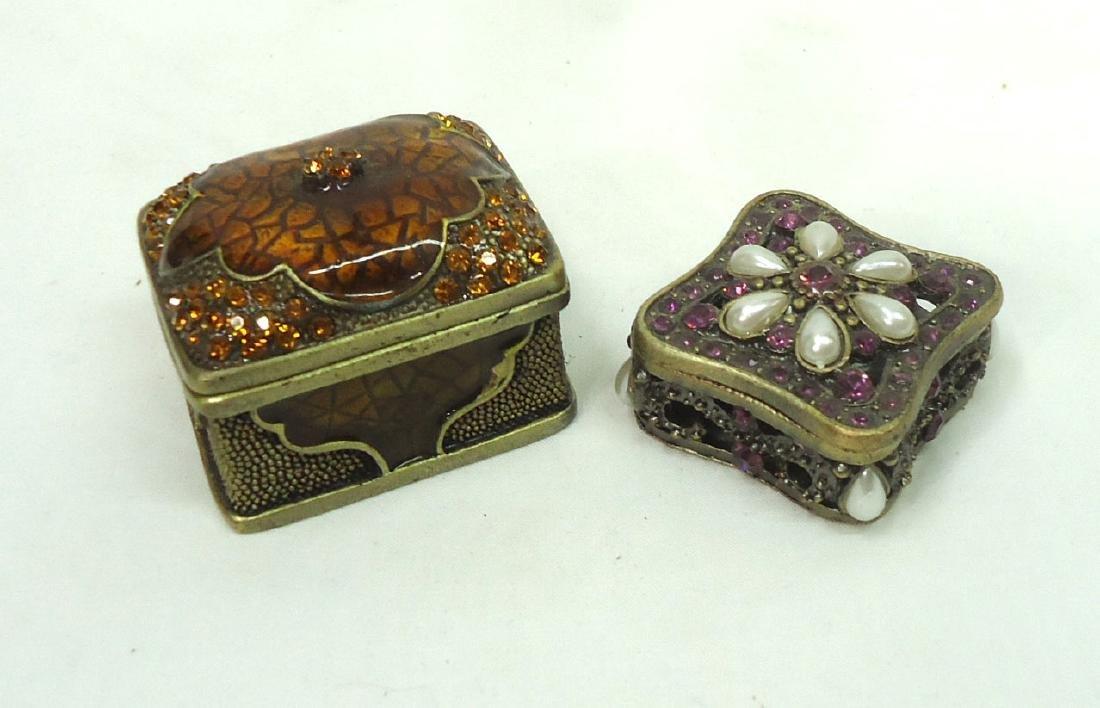2 Enameled & Jeweled Boxes