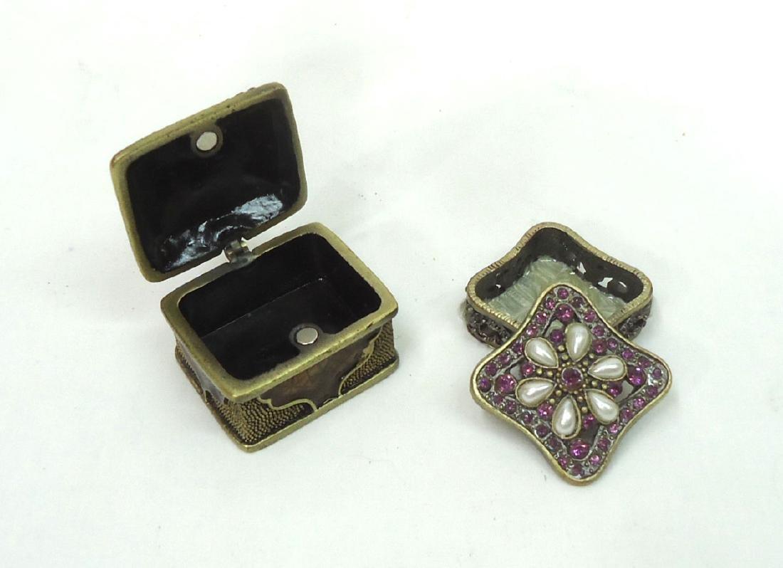 2 Enameled & Jeweled Boxes - 2