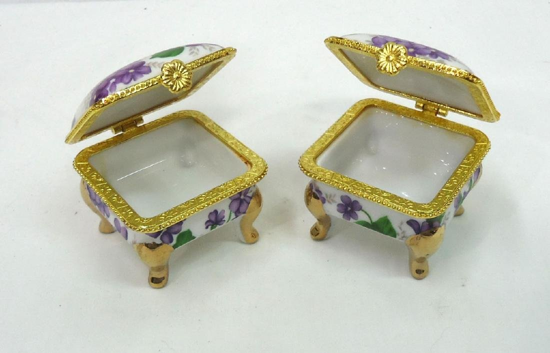 2 Porcelain Ring Boxes