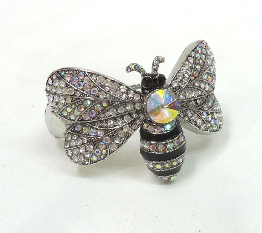 Rhinestone Butterfly Bracelet