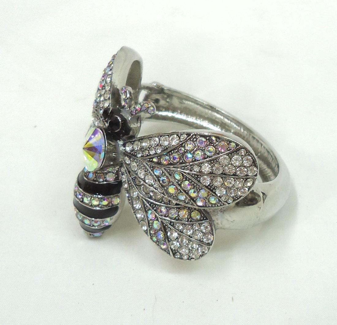 Rhinestone Butterfly Bracelet - 2