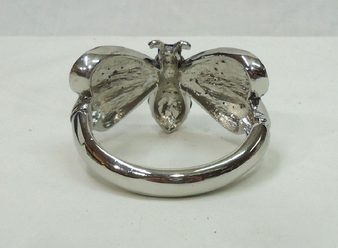 Rhinestone Butterfly Bracelet - 3
