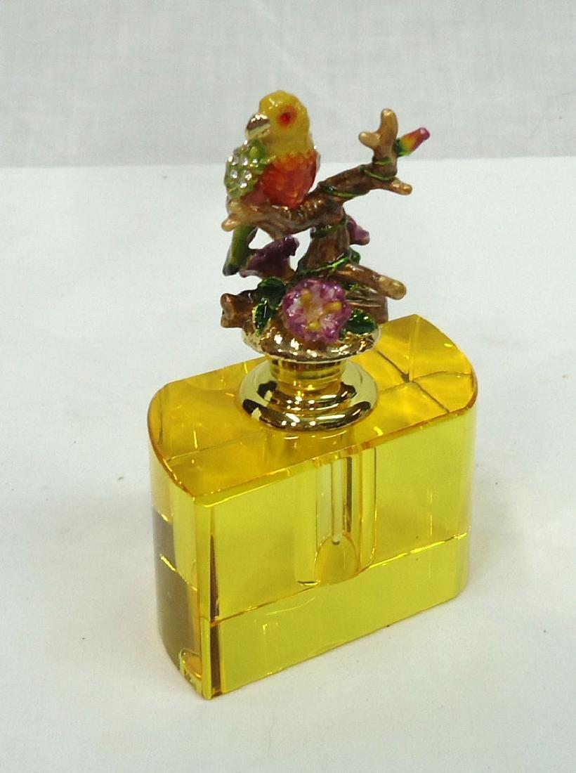 Enameled Bird Perfume Bottle