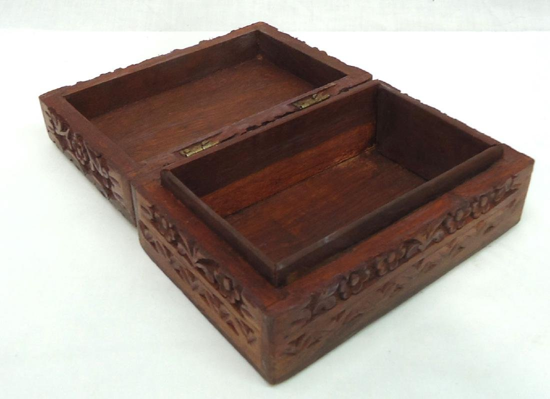 Carved Wooden Box - 3