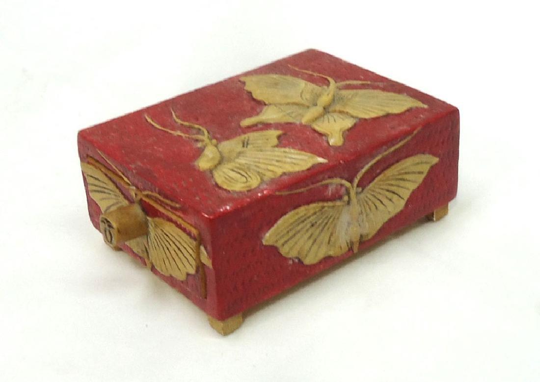 Carved Oriental Hardstone Box - 3