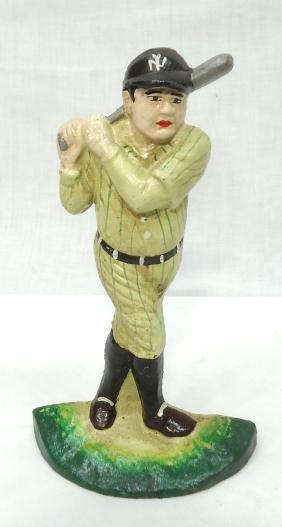 Modern C.I. Babe Ruth Door Stop
