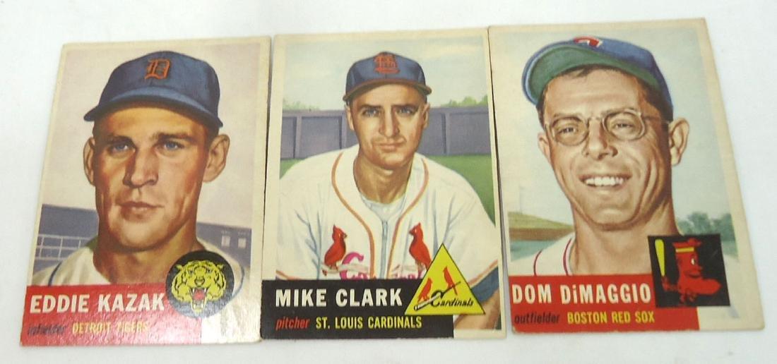 (3) 1953 Topps Baseball Cards