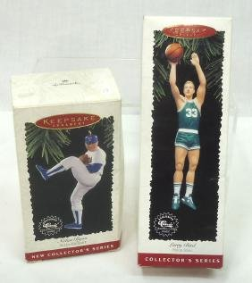 Nolan Ryan & Larry Bird Ornaments
