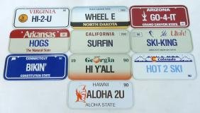 10 Bicycle License Plates