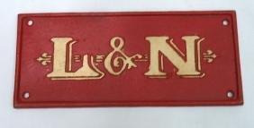 Modern C.I. L&N Railroad Sign