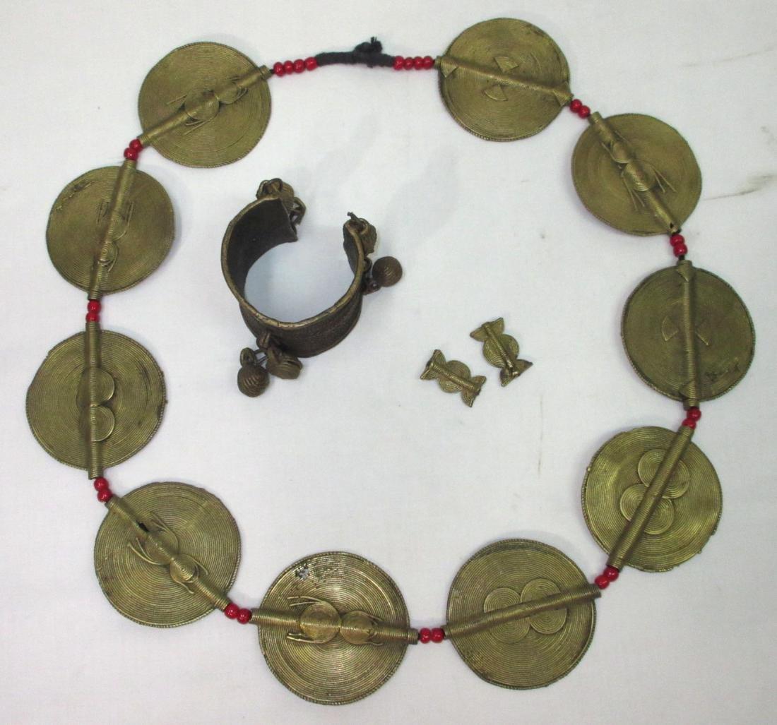 Brass Necklace & Bracelet