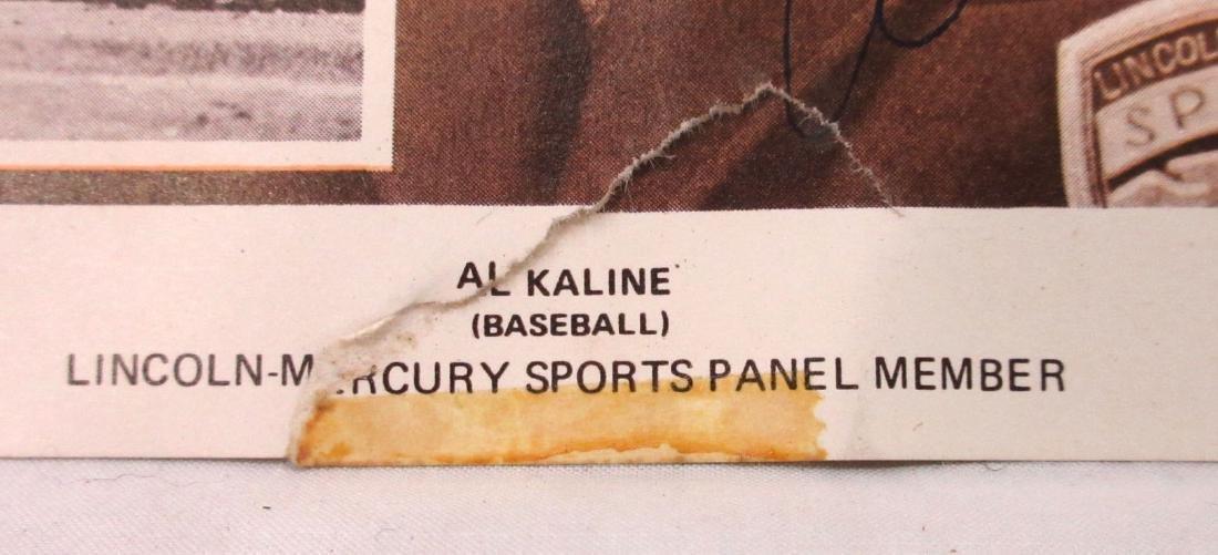 Autographed Al Kaline Print - 2