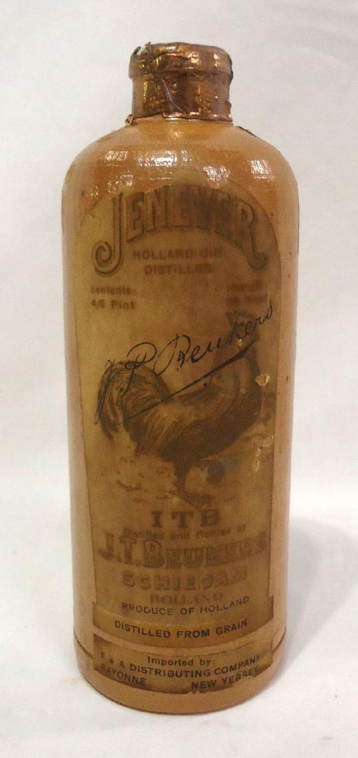 Stoneware Liquor Bottle