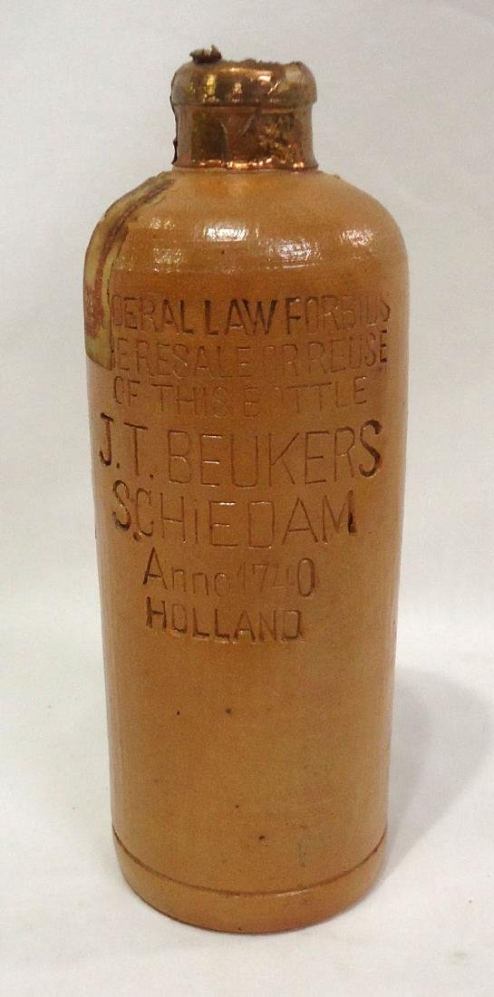 Stoneware Liquor Bottle - 4