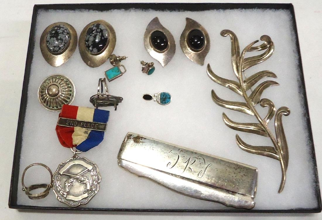 Lot of Sterling & Coin Silver Jewelry