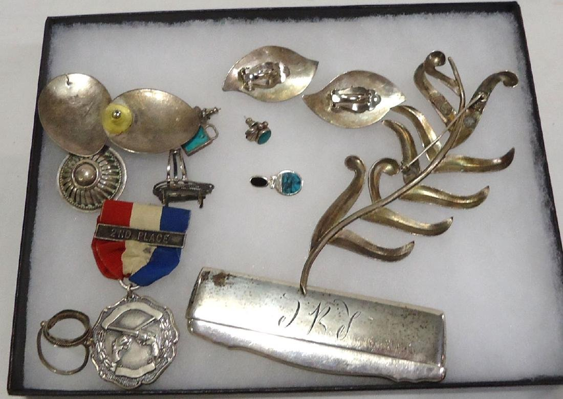 Lot of Sterling & Coin Silver Jewelry - 2