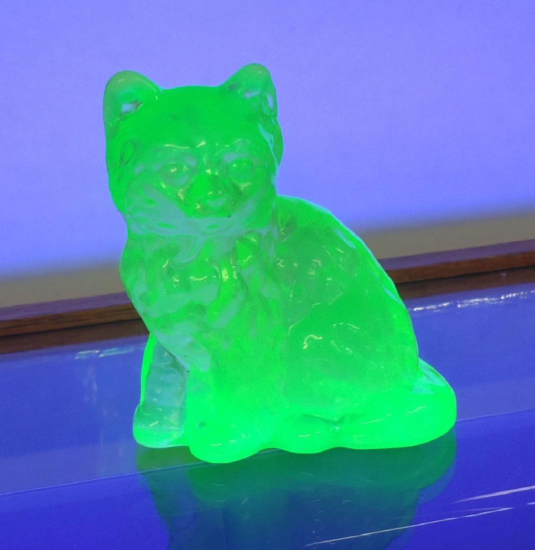 Vaseline Glass Cat